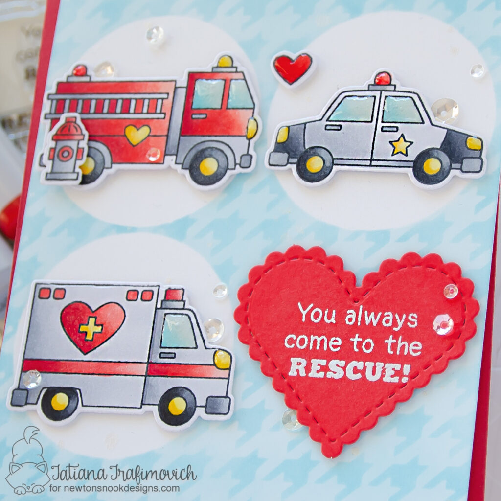You Always Come To The Rescue! #handmade card by Tatiana Trafimovich #tatianacraftandart - Love Emergency stamp set by Newton's Nook Designs #newtonsnook