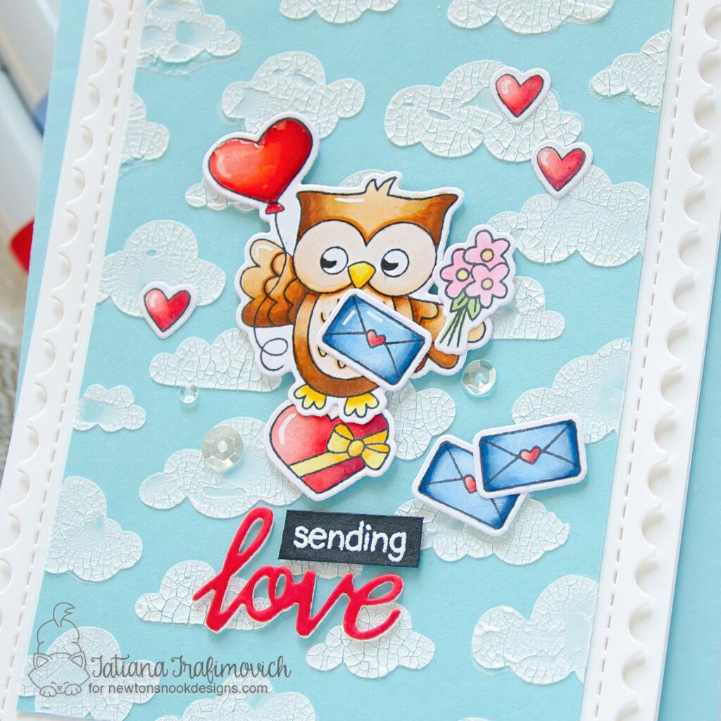 Sending Love #handmade card by Tatiana Trafimovich #tatianacraftandart - Love Owl-ways stamp set by Newton's Nook Designs #newtonsnook