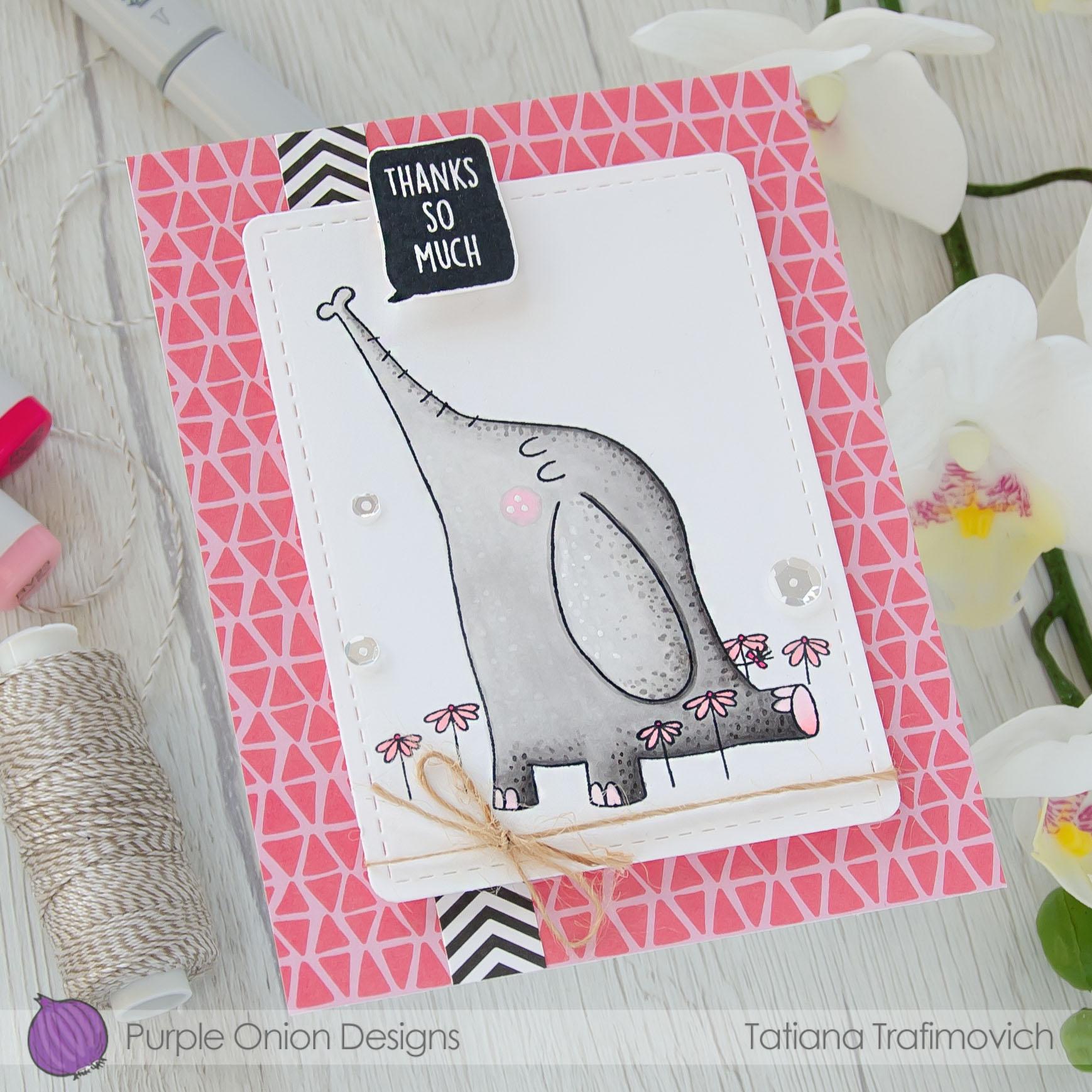 Thanks So Much #handmade card by Tatiana Trafimovich #tatianacraftandart - stamps by Purple Onion Designs