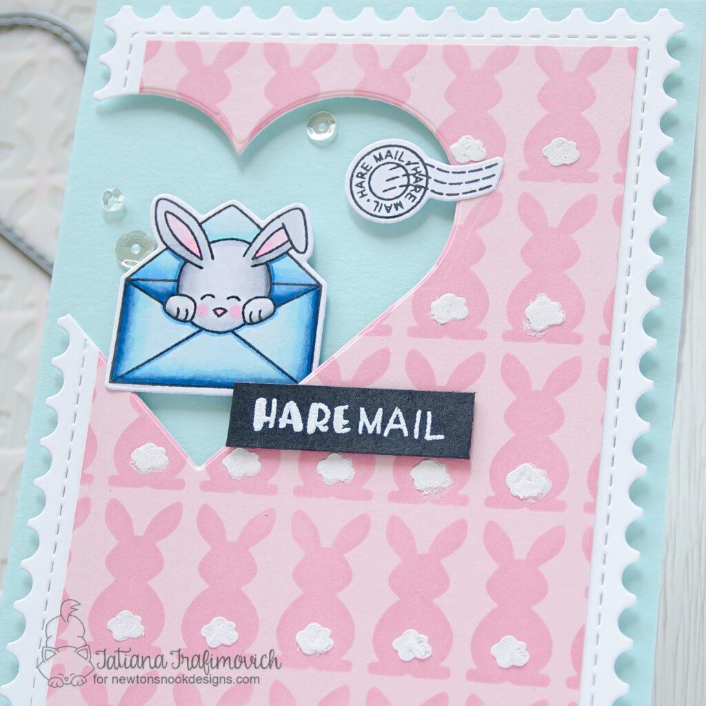Hare Mail #handmade card by Tatiana Trafimovich #tatianacraftandart - Hare Mail stamp set by Newton's Nook Designs #newtonsnook