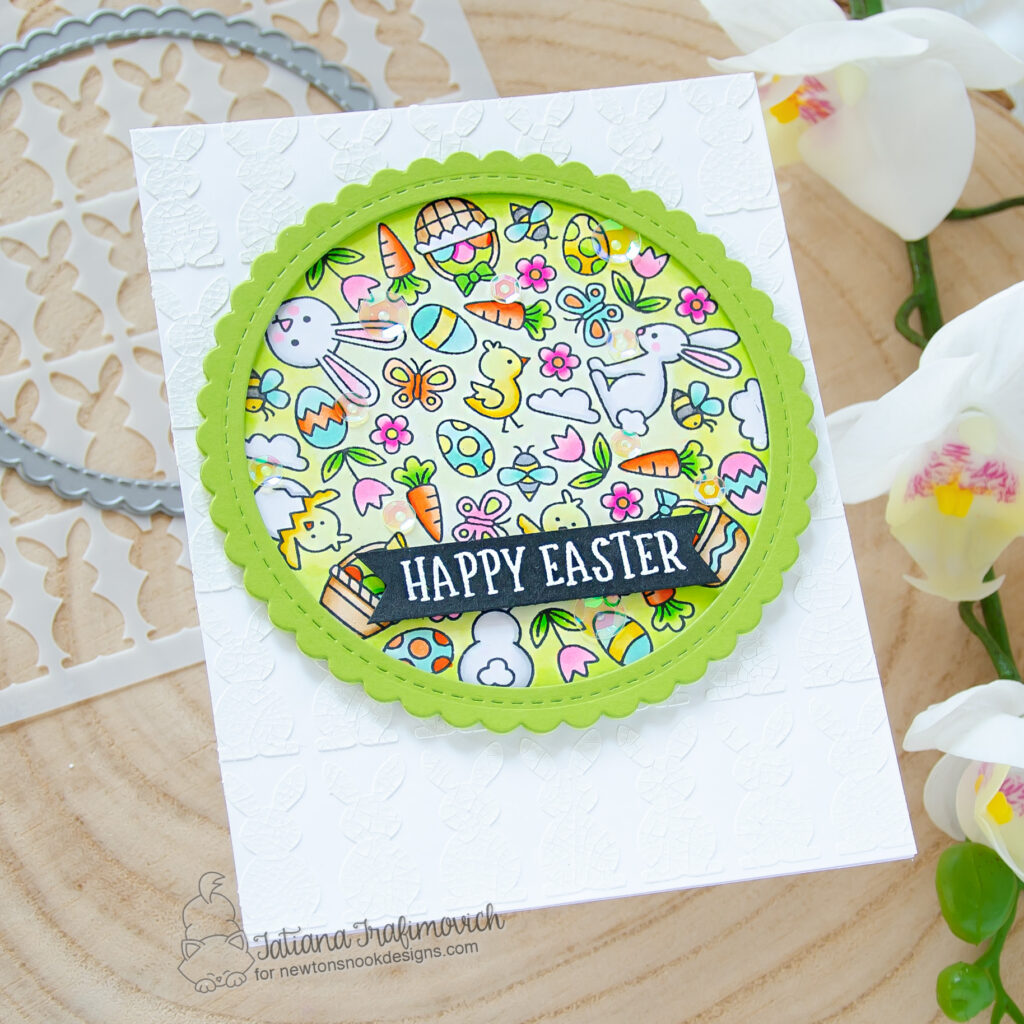 Happy Easter #handmade card by Tatiana Trafimovich #tatianacraftandart - Spring Roundabout stamp set by Newton's Nook Designs #newtonsnook