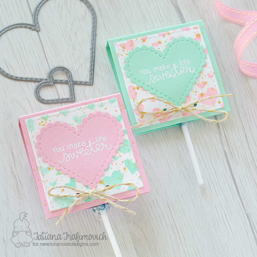 DIY Sweet Treats by Tatiana Trafimovich #tatianacraftandart - stamp and dies by Newton's Nook Designs #newtonsnook