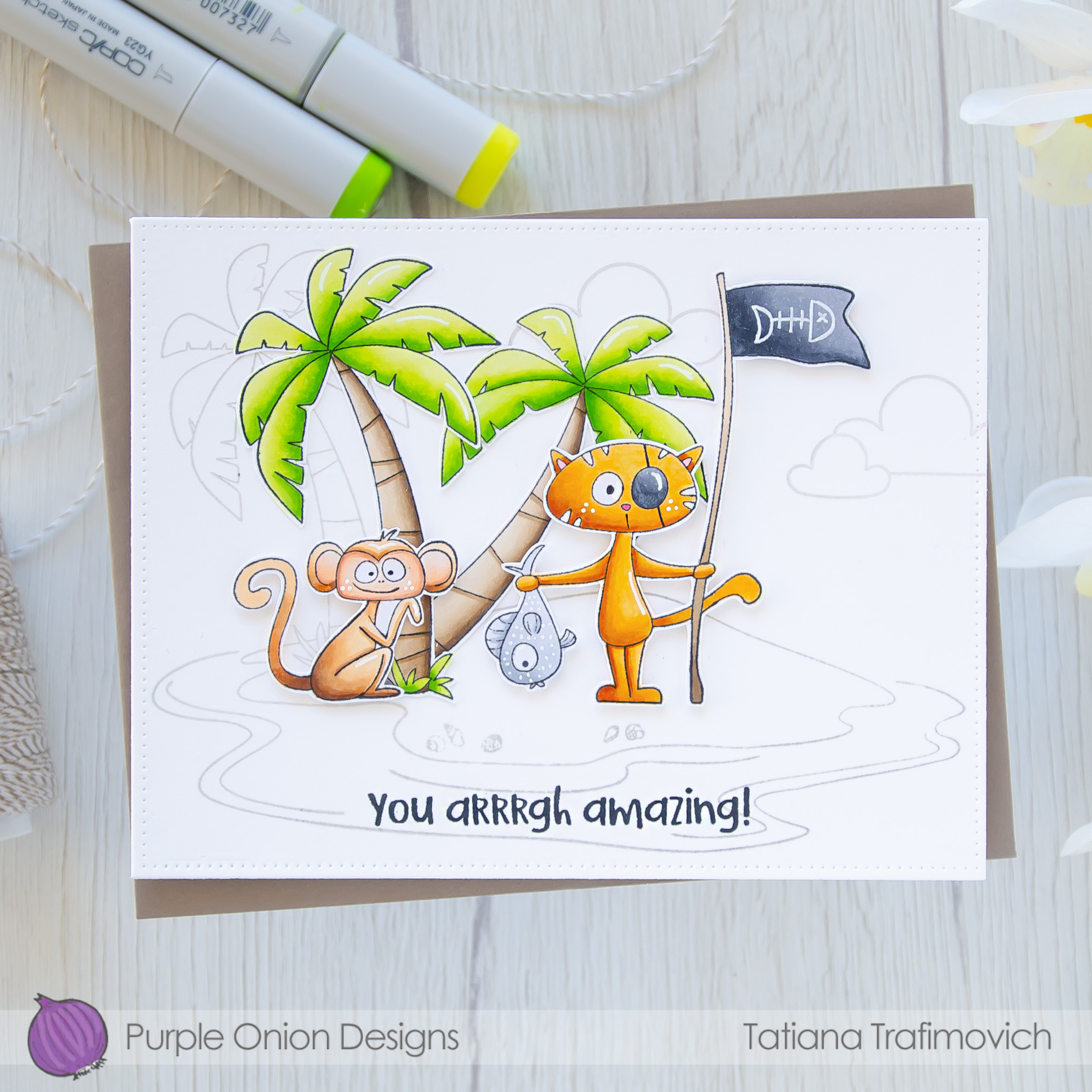 You Arrrgh Amazing! #handmade card by Tatiana Trafimovich #tatianacraftandart - stamps by Purple Onion Designs