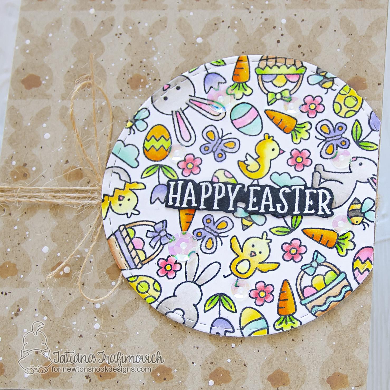 Happy Easter #handmade card by Tatiana Trafimovich #tatianacraftandart - Spring Roundabout stamp set by Newton's Nook Designs #newtonsnook