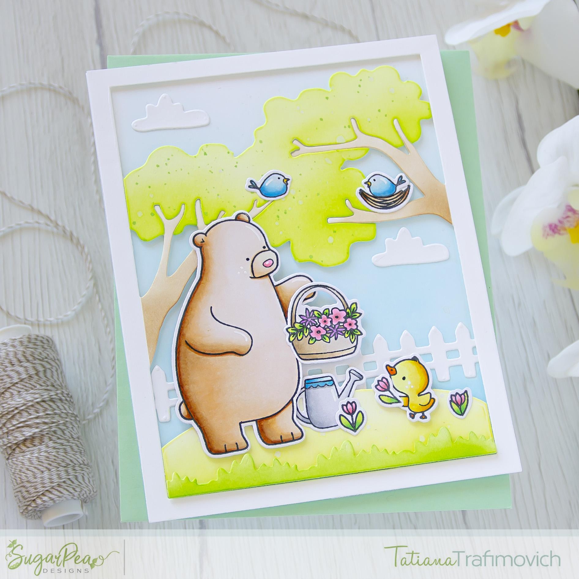 Hey Spring #handmade card by Tatiana Trafimovich #tatianacraftandart - Hey Spring stamp set by SugarPea Designs #sugarpeadesigns