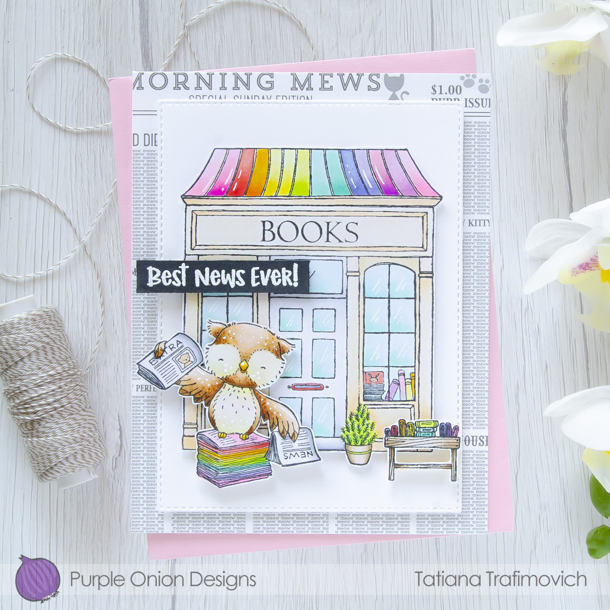 Best News Ever! #handmade card by Tatiana Trafimovich #tatianacraftandart - stamps by Purple Onion Designs