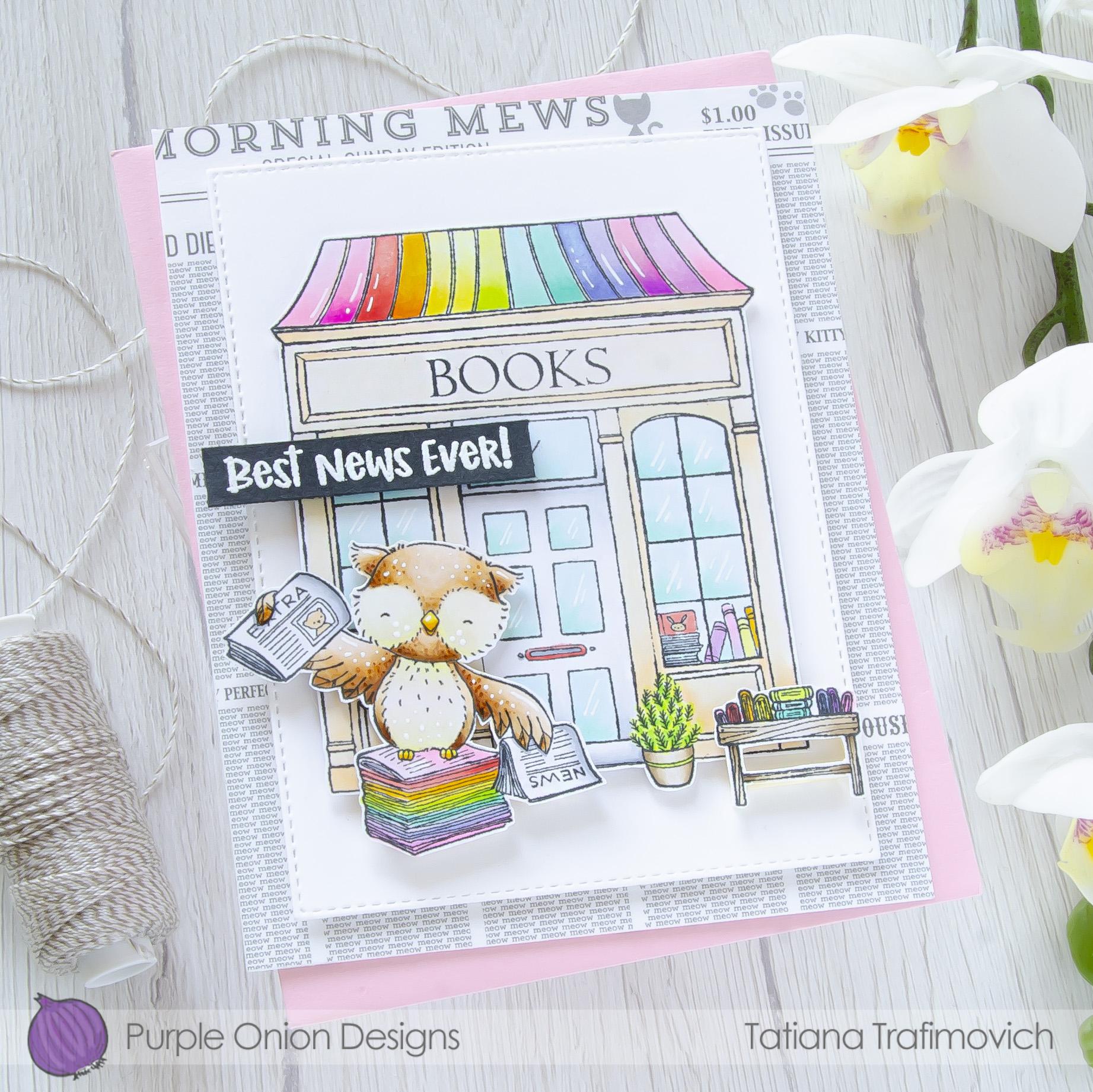 Best News Ever! #handmade card by Tatiana Trafimovich #tatianacraftandart - stamps by Purple Onion Designs