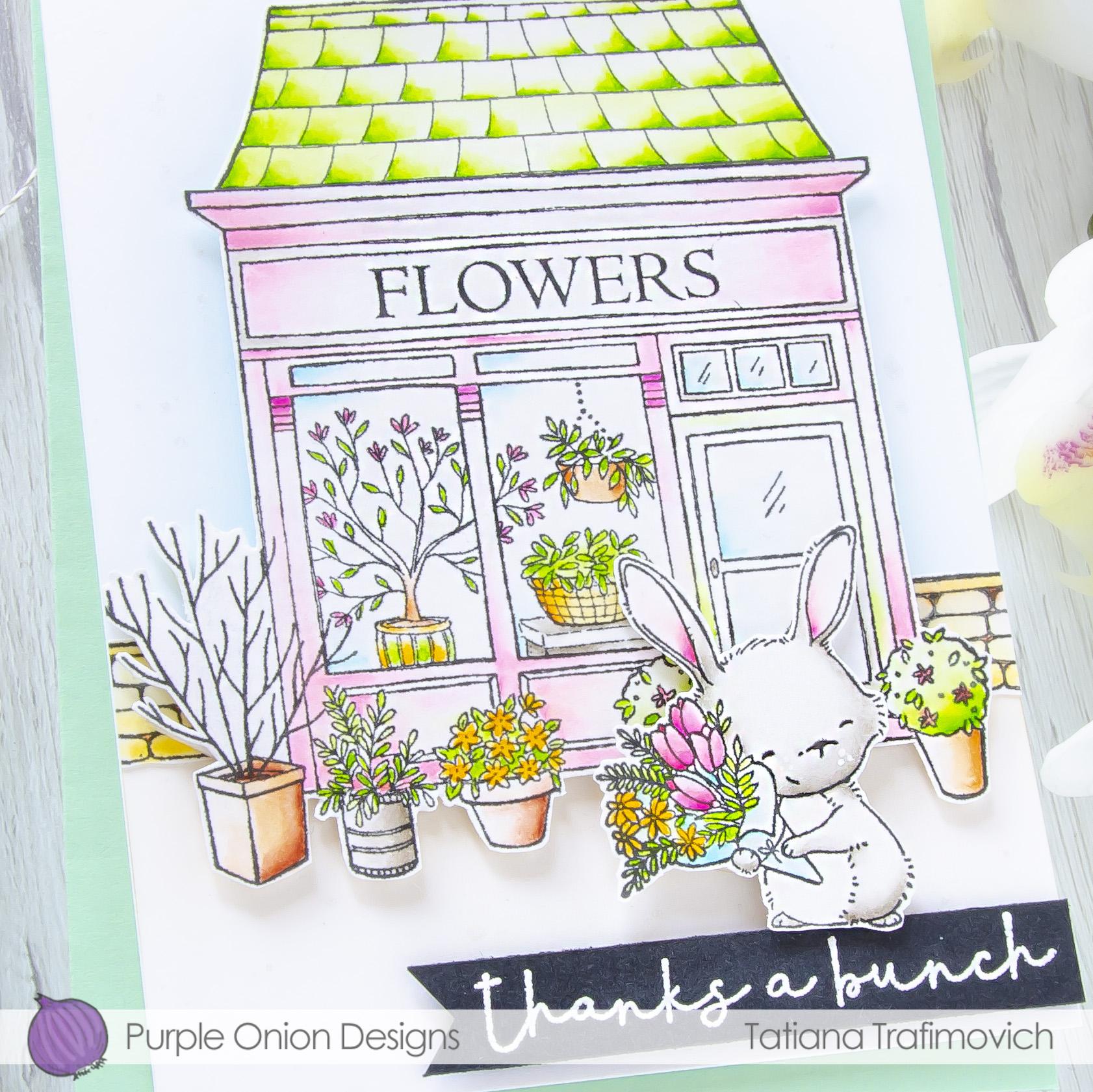 Thanks A Bunch #handmade card by Tatiana Trafimovich #tatianacraftandart - stamps by Purple Onion Designs