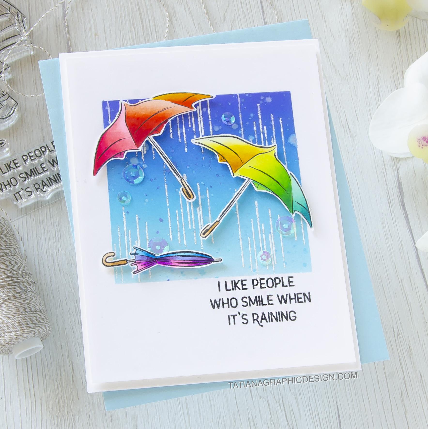Rainbow #handmade card by Tatiana Trafimovich #tatianacraftandart - Cute Boots stamp set by Spellbinders #spellbinders