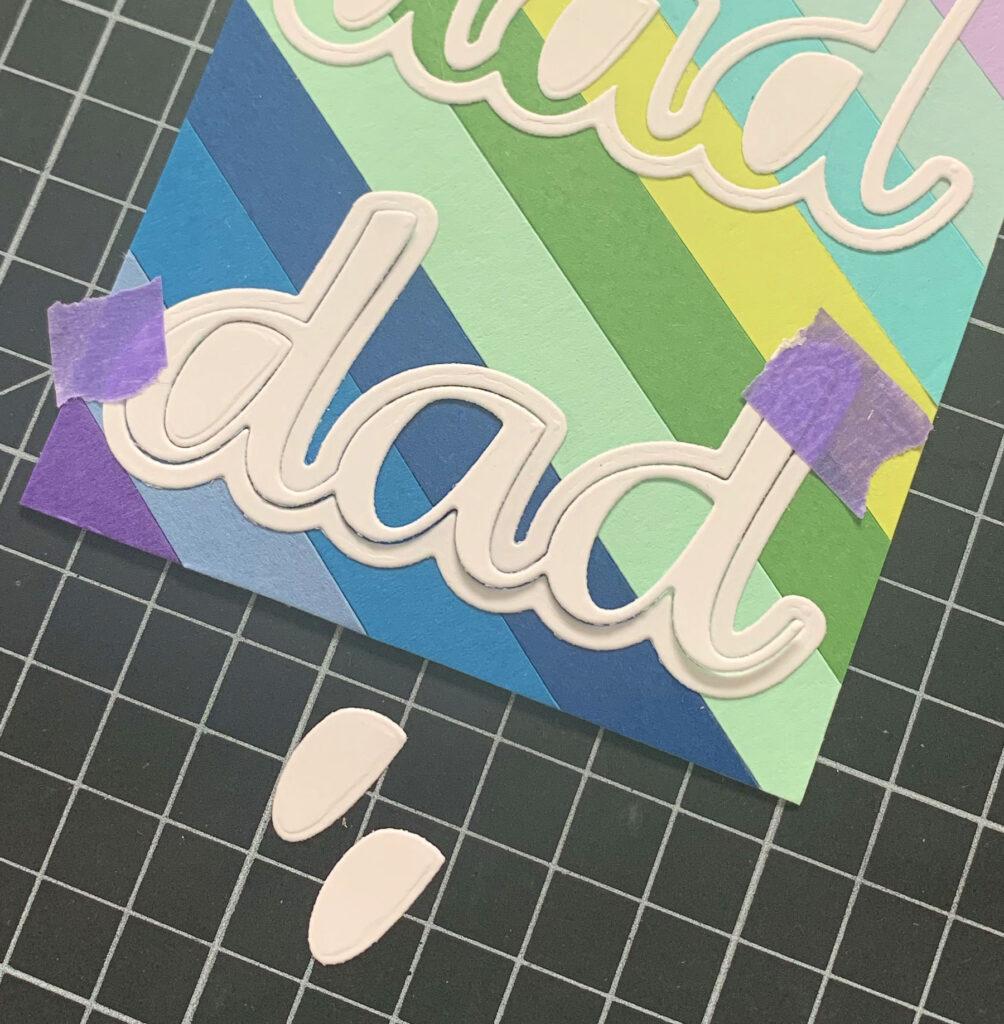 Dad #handmade card by Tatiana Trafimovich #tatianacraftandart - Dad Die by Crafty Meraki #craftymeraki