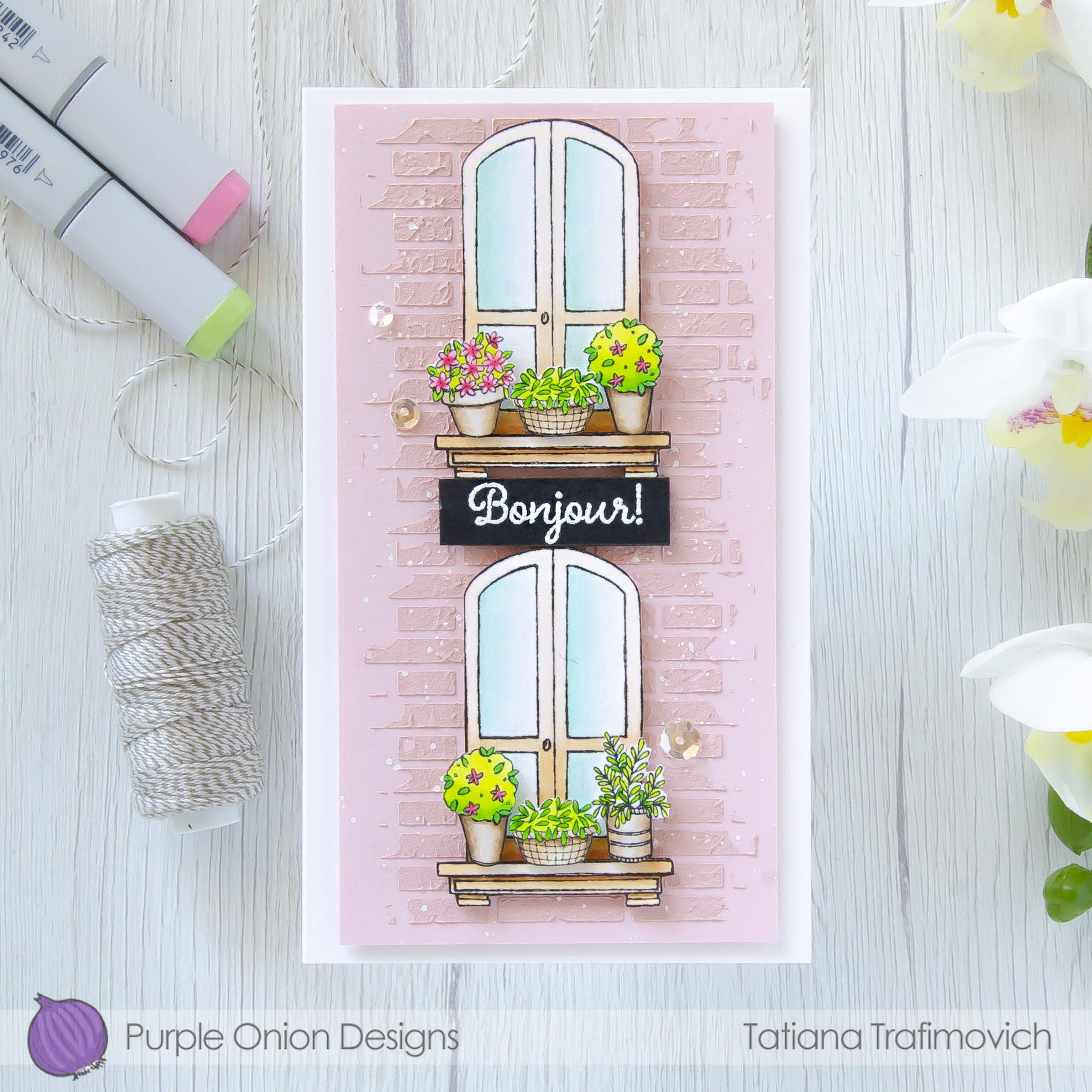 Bonjour #handmade card by Tatiana Trafimovich #tatianacraftandart - stamps by Purple Onion Designs