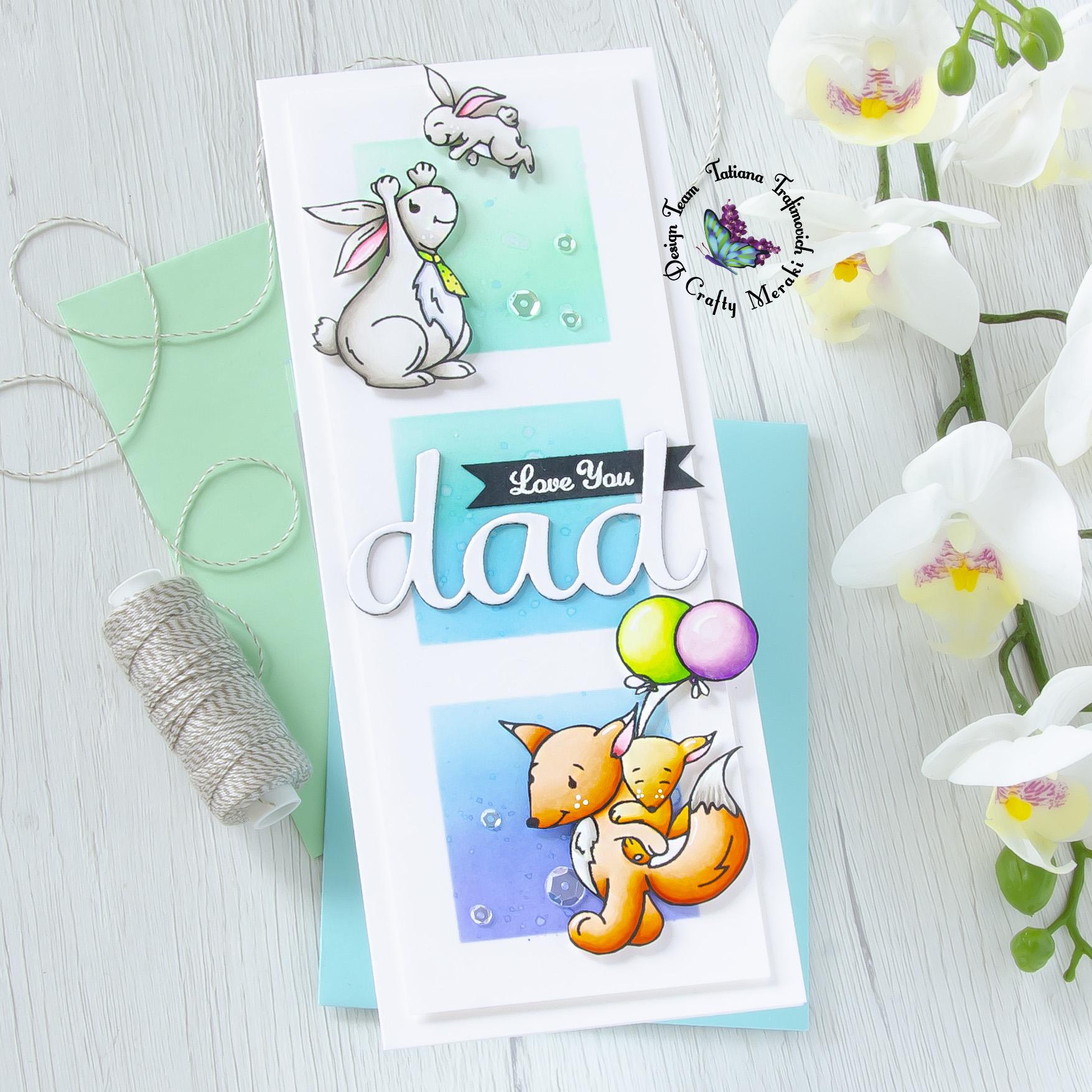 Love You Dad #handmade card by Tatiana Trafimovich #tatianacraftandart - The Legend stamp set by Crafty Meraki #craftymeraki