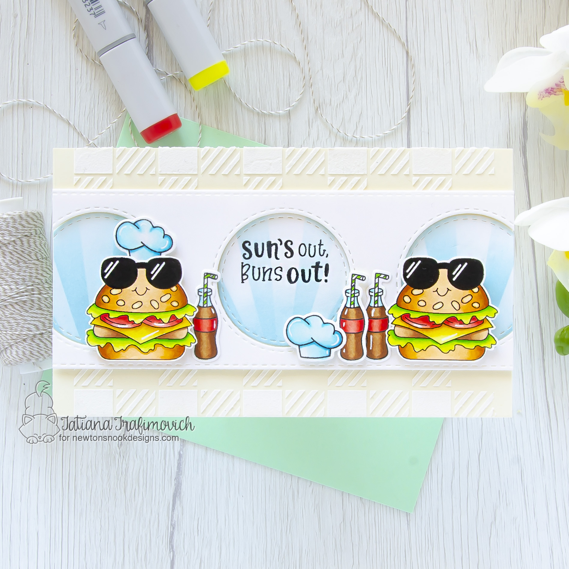 Sun's Out, Buns Out! #handmade card by Tatiana Trafimovich #tatianacraftandart - Buns Out stamp set by Newton's Nook Designs #newtonsnook