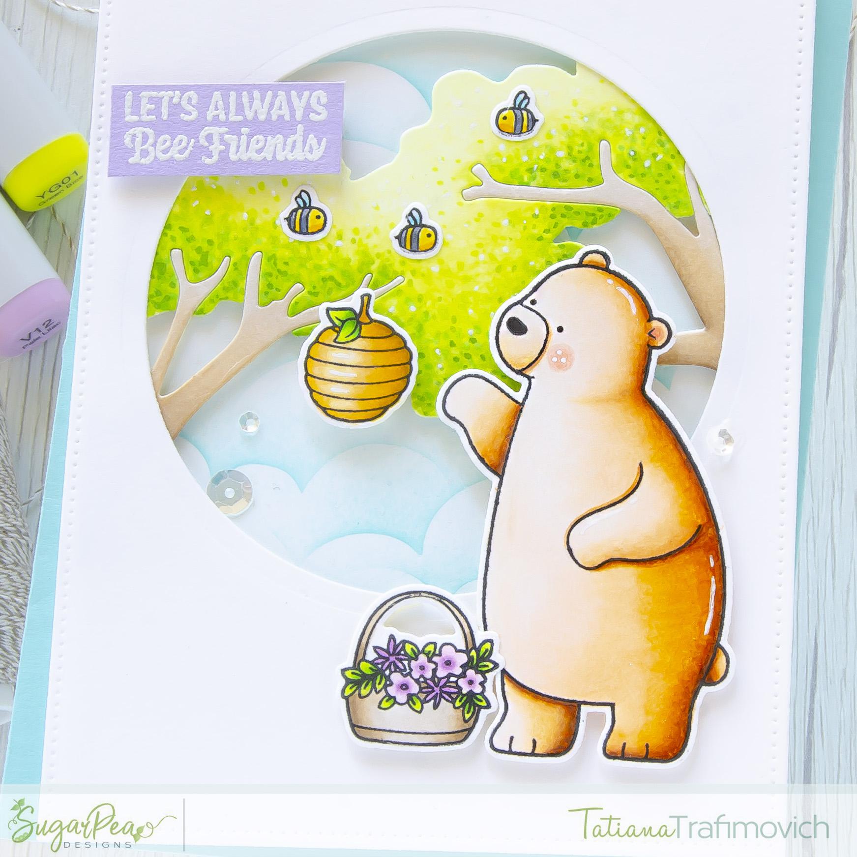 Let's Always Bee Friends #handmade card by Tatiana Trafimovich #tatianacraftandart - Hey Spring stamp set by SugarPea Designs #sugarpeadesigns