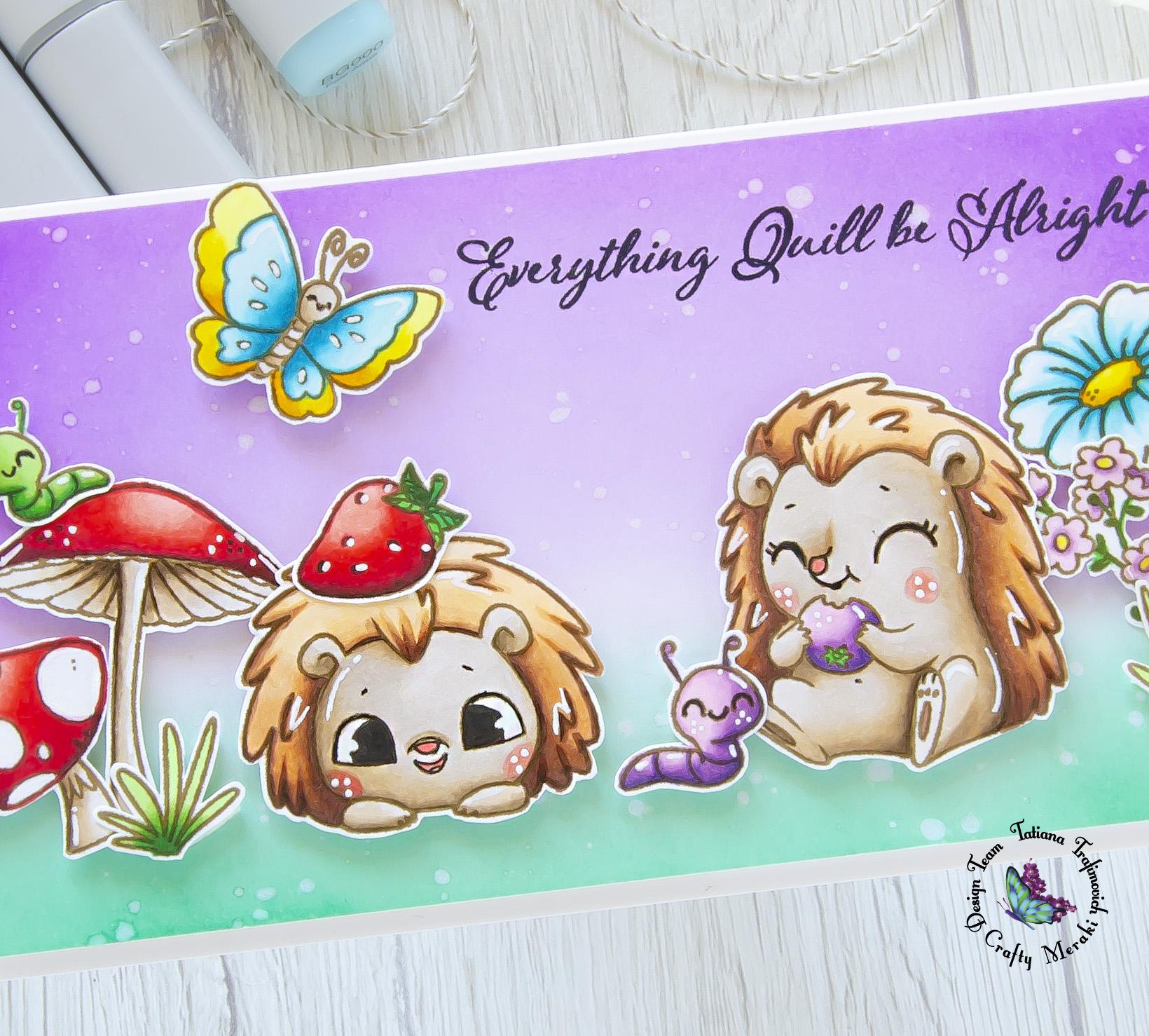 Everything Quill Be Alright #handmade card by Tatiana Trafimovich #tatianacraftandart - Just Quillin stamp set by Crafty Meraki #craftymeraki