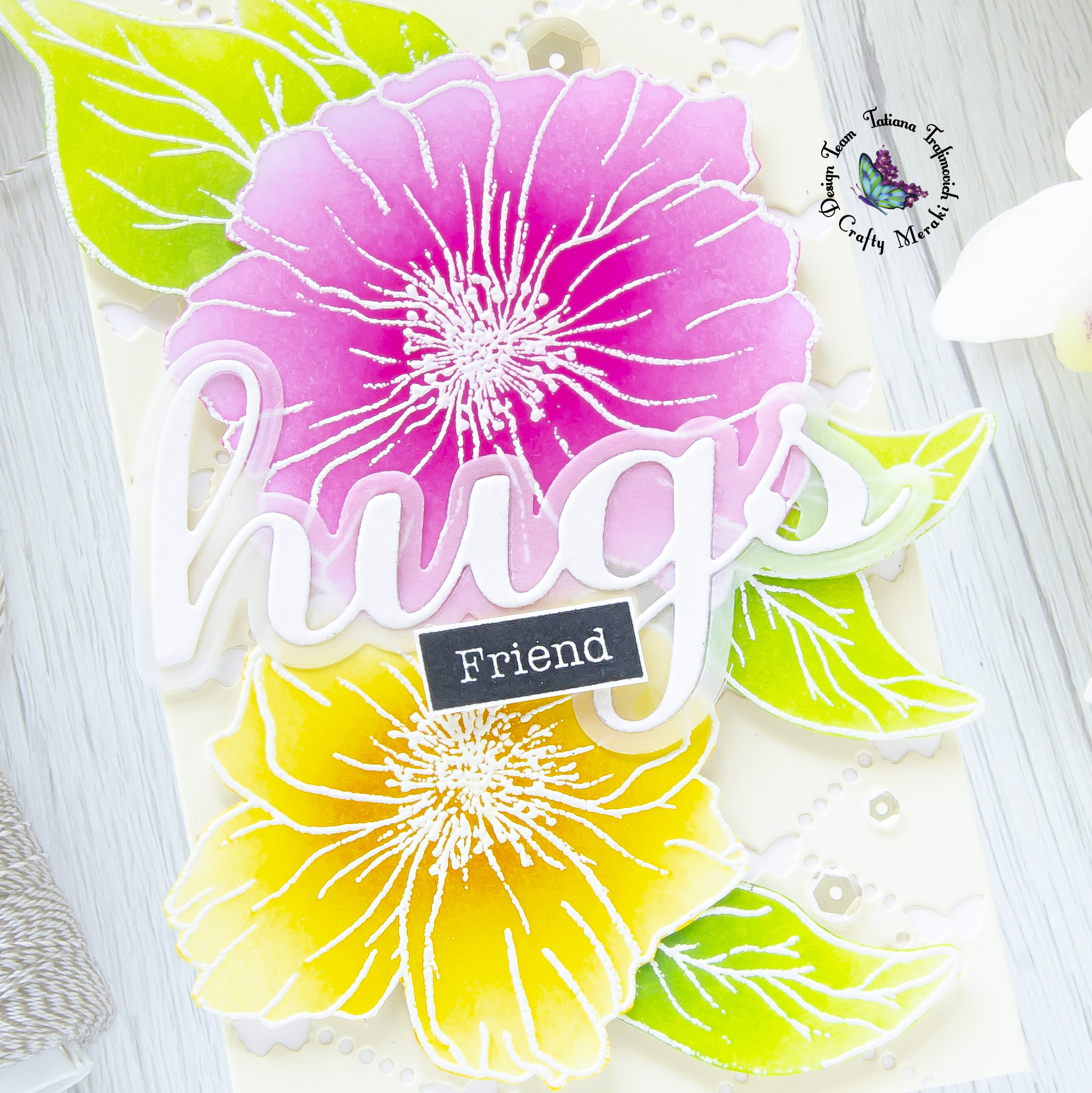 Friend #handmade card by Tatiana Trafimovich #tatianacraftandart - Love Forever stamp set by Crafty Meraki #craftymeraki
