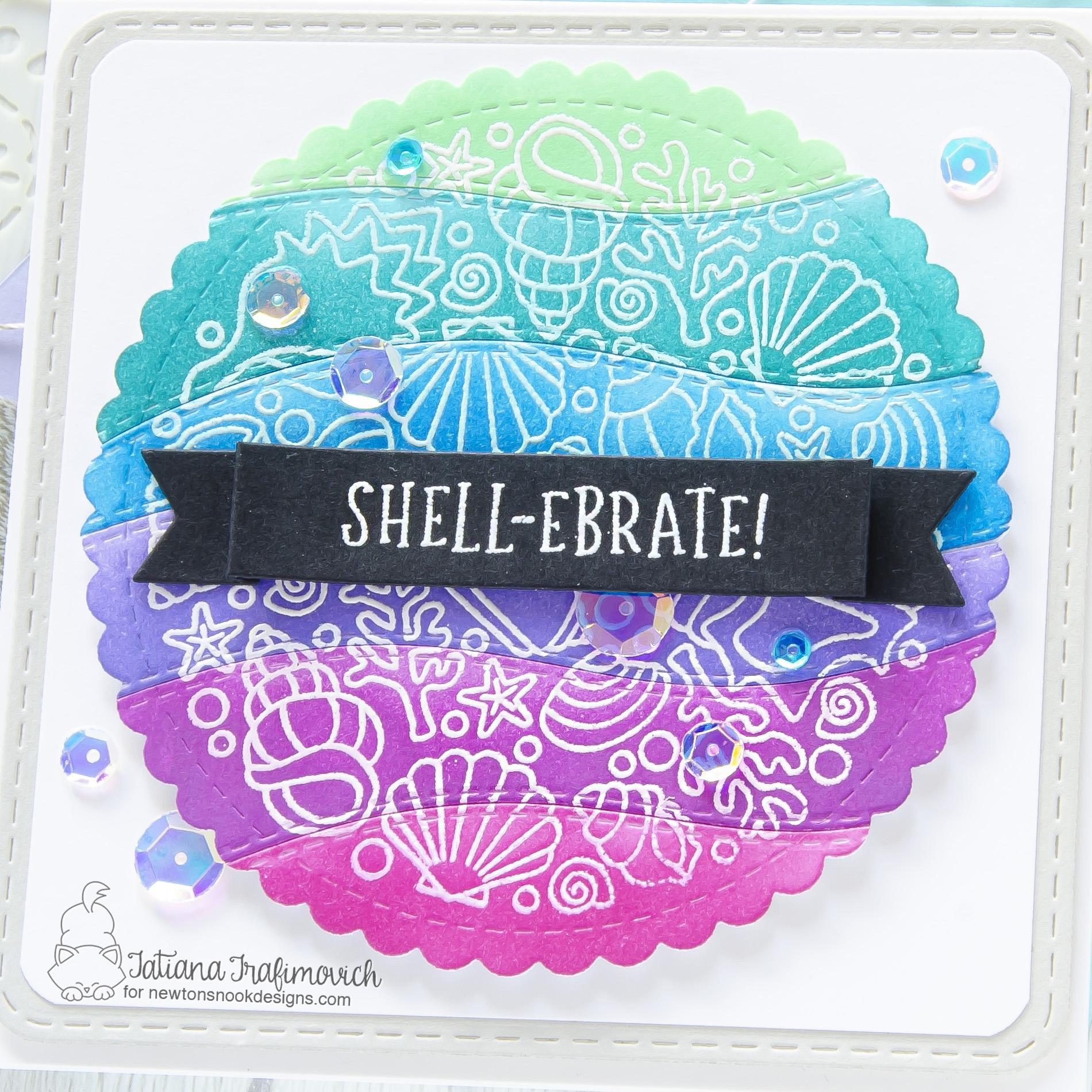 Shell-ebrate! #handmade card by Tatiana Trafimovich #tatianacraftandart - Seashell Roundabout stamp set by Newton's Nook Designs #newtonsnook