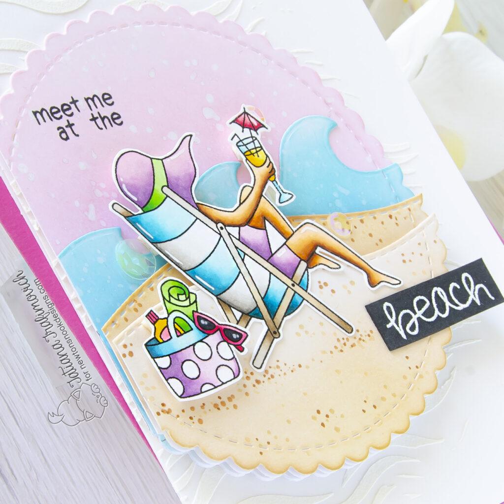 Meet Me At The Beach #handmade card by Tatiana Trafimovich #tatianacraftandart - Summer Moments stamp set by Newton's Nook Designs #newtonsnook