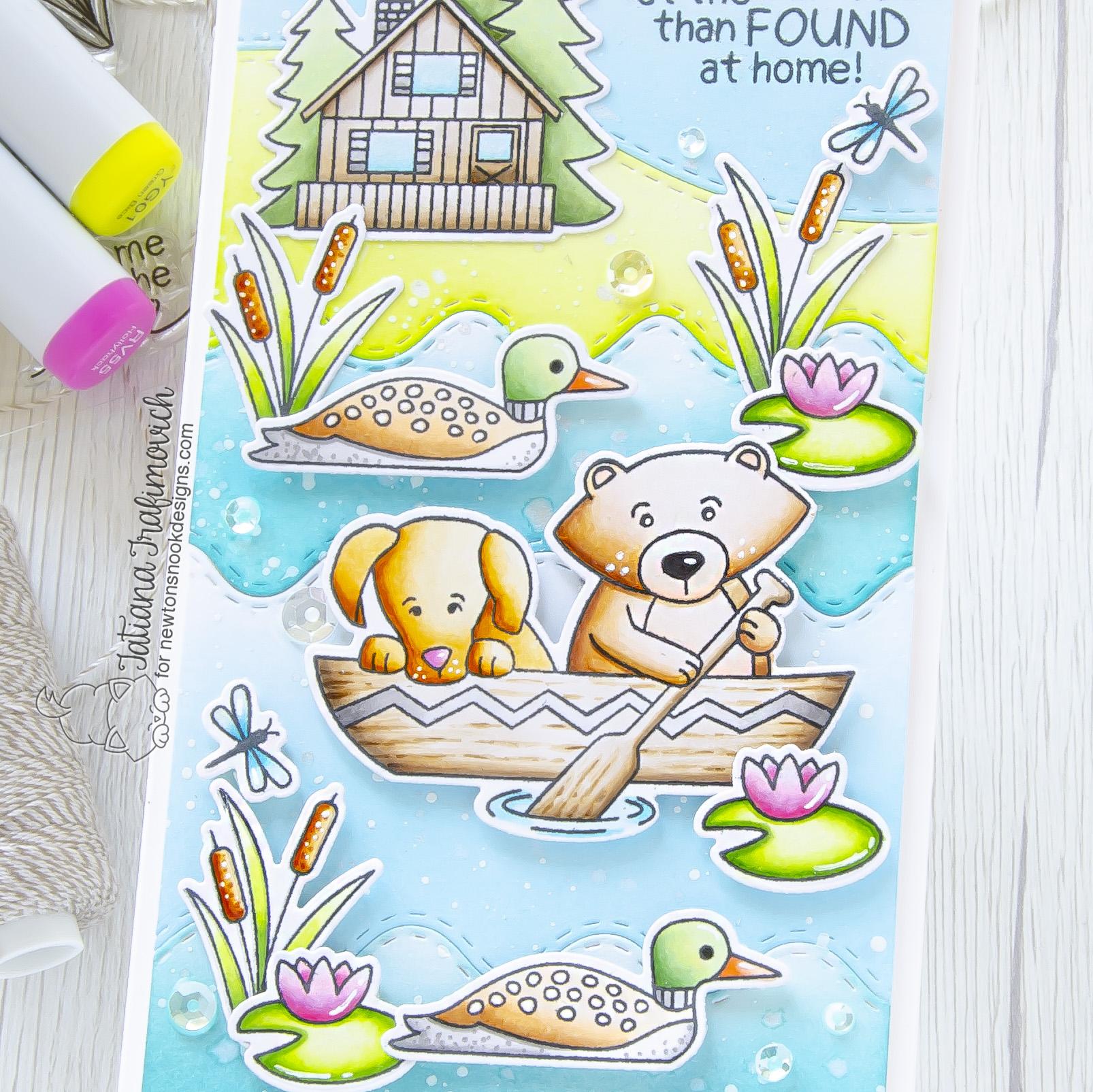 I'd Rather Be Lost At The Lake... #handmade card by Tatiana Trafimovich #tatianacraftandart - Winston's Lake House stamp set by Newton's Nook Designs #newtonsnook