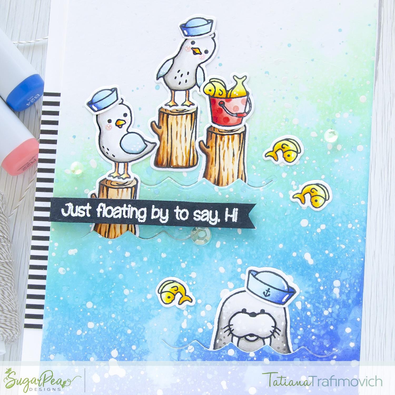Just Floating By... #handmade card by Tatiana Trafimovich #tatianacraftandart - Salty Seagulls stamp set by SugarPea Designs #sugarpeadesigns