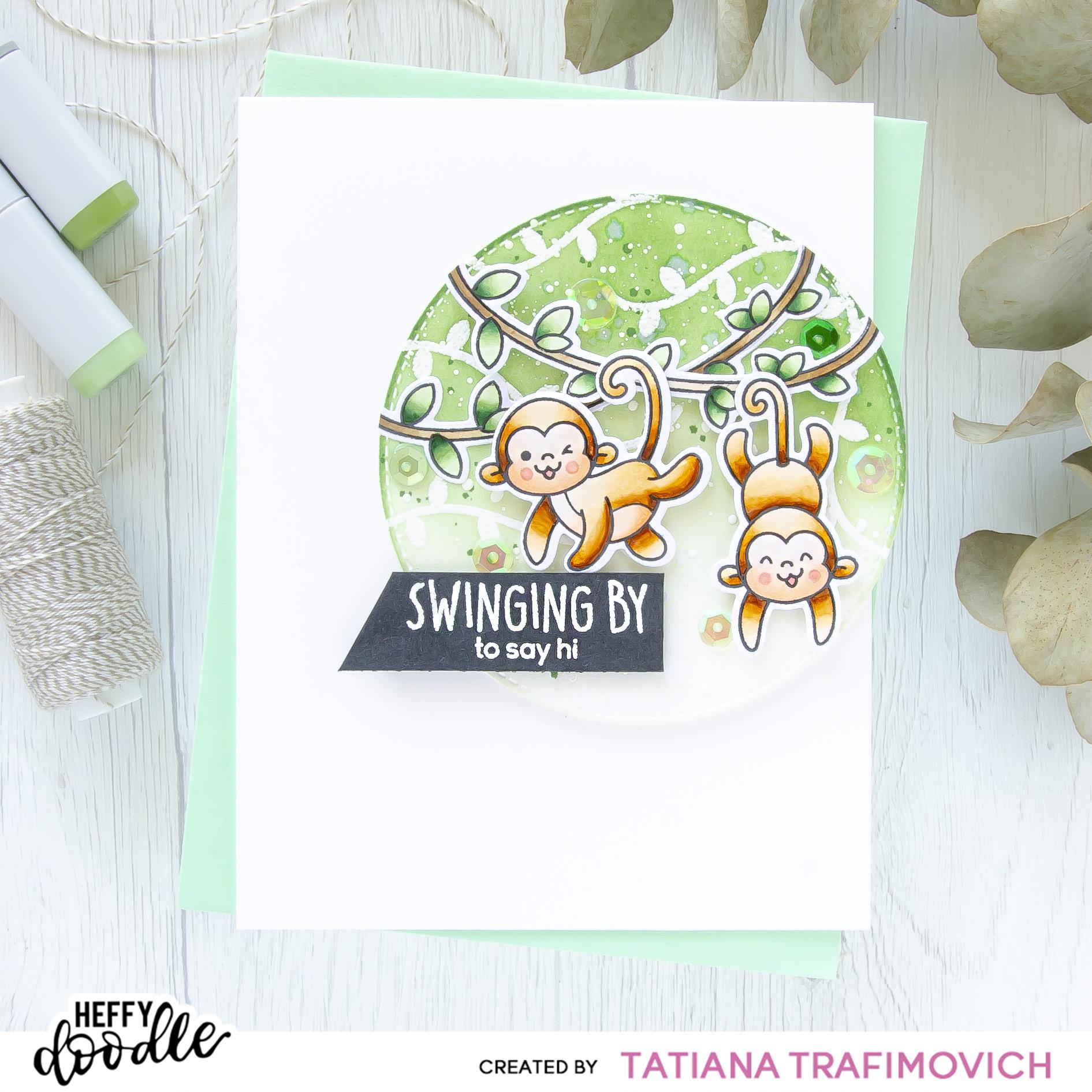 Swinging By #handmade card by Tatiana Trafimovich #tatianacraftandart - Chimply The Best stamp set by Heffy Doodle #heffydoodle