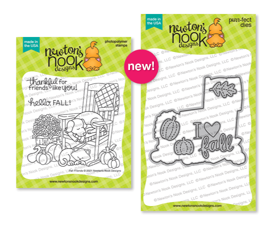 Fall Friends stamp set by Newton's Nook Designs #newtonsnook