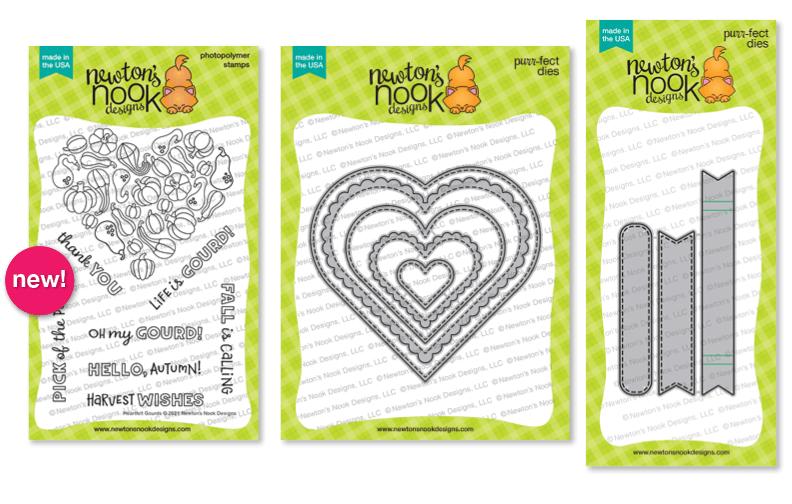 Heartfelt Gourds stamp set by Newton's Nook Designs #newtonsnook