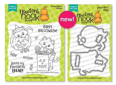 Trick or Treat Kittens stamp set by Newton's Nook Designs #newtonsnook