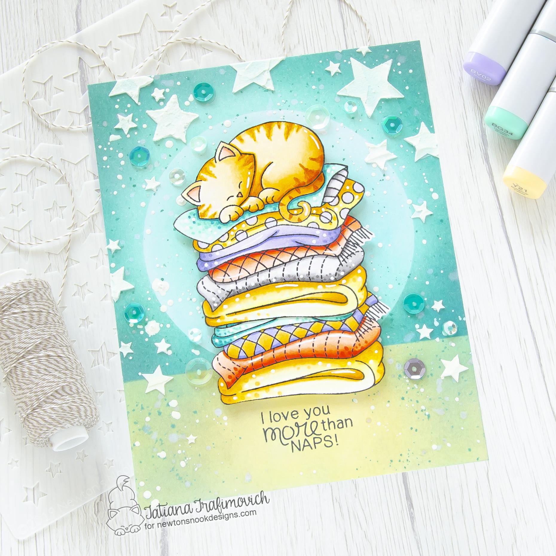 I Love You More Than Naps #handmade card by Tatiana Trafimovich #tatianacraftandart - Newton's Naptime stamp set by Newton's Nook Designs #newtonsnook