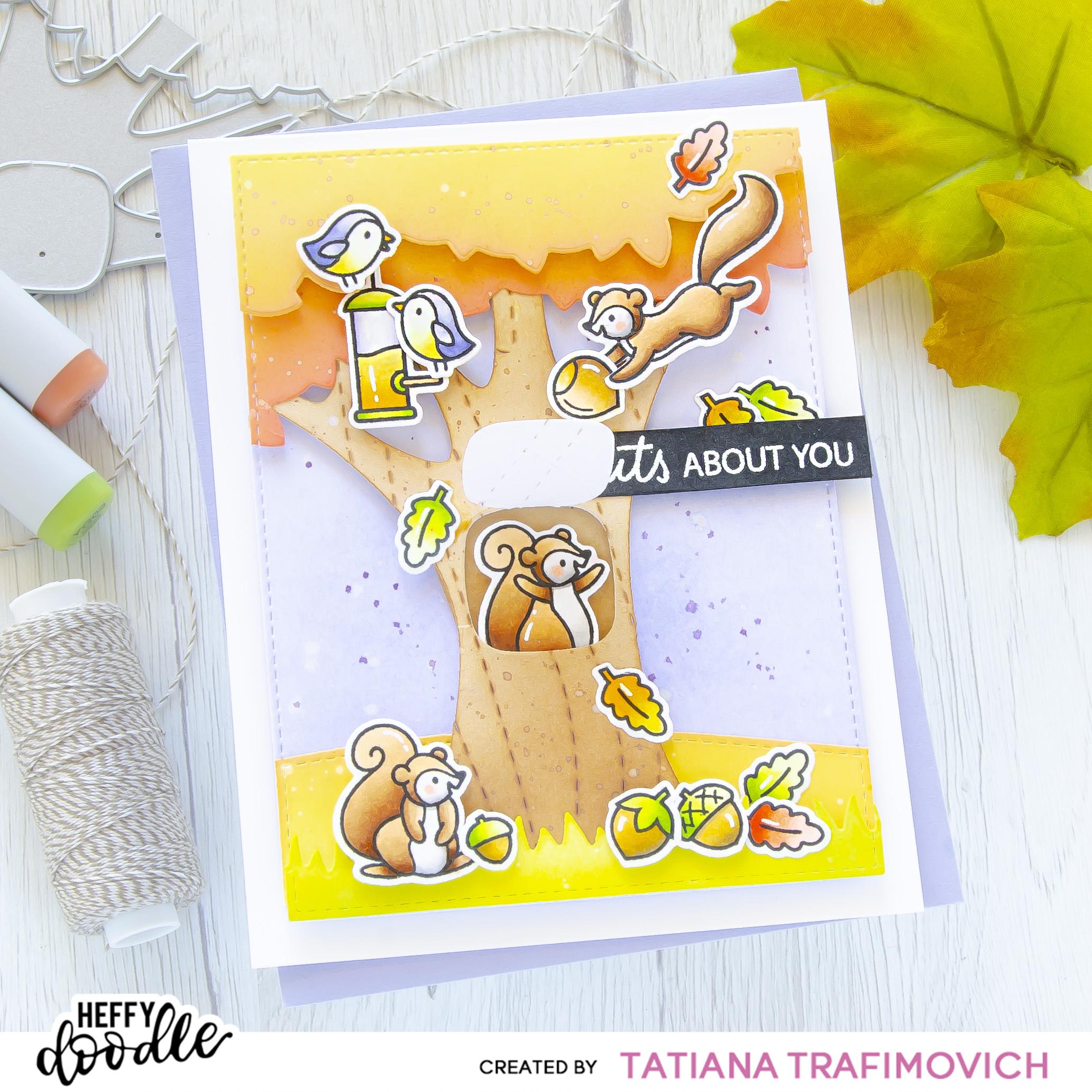 I'm NUTS About You #handmade card by Tatiana Trafimovich #tatianacraftandart - Nuts About You stamp set by Heffy Doodle #heffydoodle