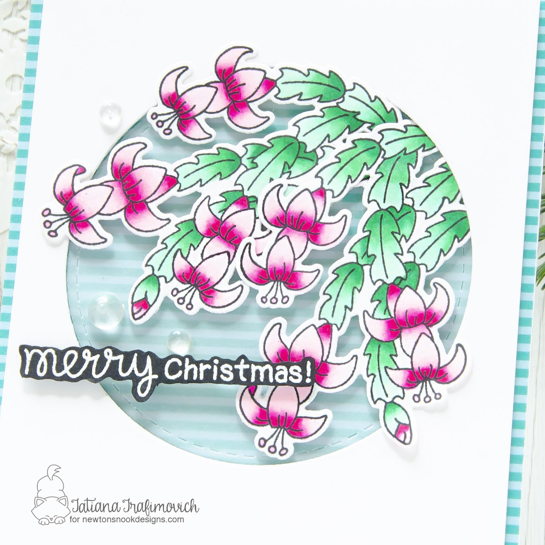Merry Christmas #handmade card by Tatiana Trafimovich #tatianacraftandart - Christmas Cactus stamp set by Newton's Nook Designs #newtonsnook
