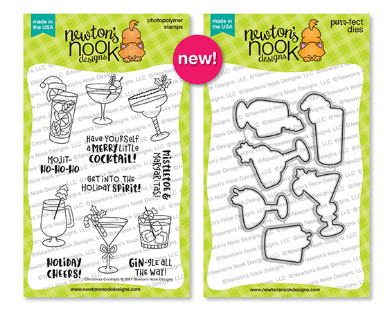 Newton's Nook Designs Christmas Cocktails stamp and die sets