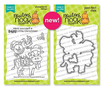 Newton's Nook Designs Dairy Christmas stamp and die sets