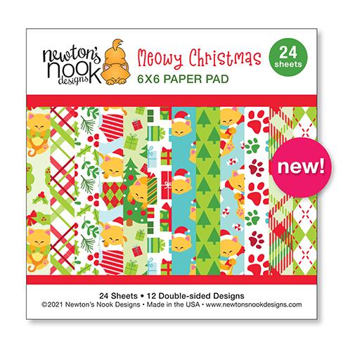 Newton's Nook Designs Meowy Christmas stamp set