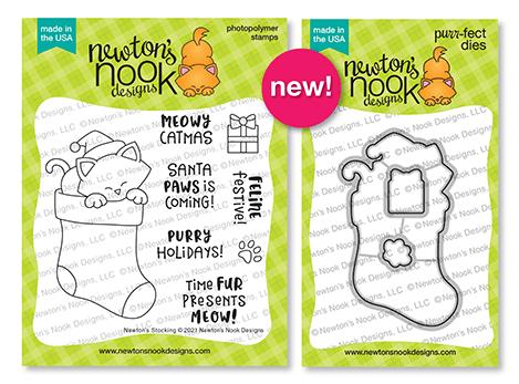 Newton's Nook Designs Newton's Stocking stamp and die sets
